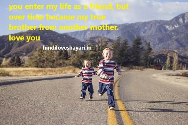 two brother holding hand of each other an walk in a road