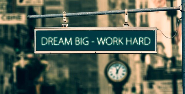 Dream big work hard - best motivational quotes for alone people